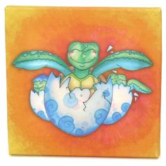 3 Stories Trading Company Growing Kids Sea Turtle Journey Series Wall Art - Hatching with Friends
