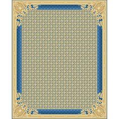 Ковер Великолепие бежевого цвета с синими узорами Splendour #ковер #дизайн #декор