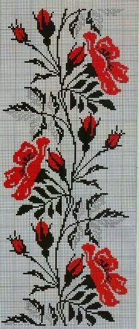 This Pin was discovered by Окс Folk Embroidery, Cross Stitch Embroidery, Embroidery Patterns, Cross Stitch Designs, Cross Stitch Patterns, Motifs Perler, Cross Stitch Boards, Cross Stitch Flowers, Stitch Kit