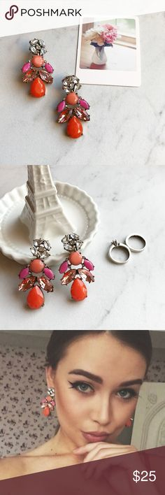 Neon Statement Earrings! NWT chandelier stunning earrings! NWT boutique item! ❤️️ same day shipping 📦🌎✈️ HWL Boutique Jewelry Earrings