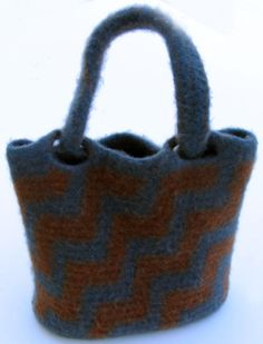 Felted Tapestry Crochet Purse