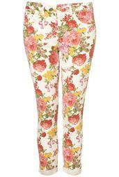 MOTO Vintage Floral Jamie Jeans | Top Shop