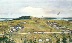 American Camp San Juan Island - estalished 1859. Wonderful painting by artist Richard Schlecht