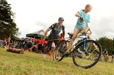 Big Valley Race at Camp Manatoc. KSD Racing sponsored Log Pull with a Classic Monarch Bicycle. September 2012