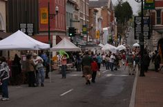 2013 Great Places in America: Streets – West Beverley Street, Staunton, Virginia • Street fairs along West Beverley attract large crowds of residents and tourists alike. Photo courtesy Staunton Downtown Development Association. http://www.planning.org/greatplaces