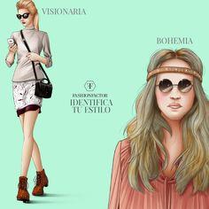 Te identificas con el estilo visionario o Bohemio?. Descubre estos estilos y muchos mas estilo en Fashionfactor.me