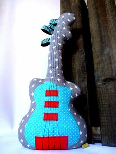 Türstopper Gitarre von Stoffbienchen auf DaWanda.com