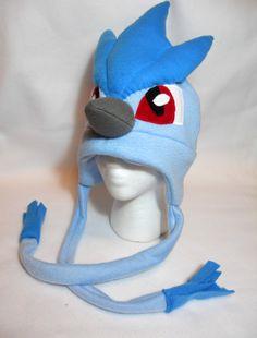 Pokemon Inspired Articuno Fleece Hat MADE TO ORDER by Higginstuff