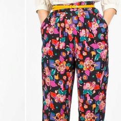Floral pleated high-wasted pants <3 #elahawkevintage