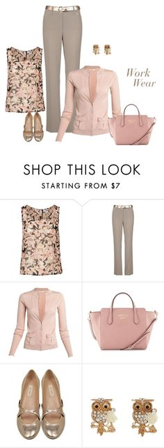 """""""Untitled #5742"""" by msdanasue ❤ liked on Polyvore featuring Vero Moda, Gerry Weber, Oroton, Gucci and Marc Jacobs"""