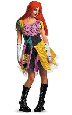 8f9d5e7ba5 The Nightmare Before Christmas Sexy Sally Adult Costume Description  A  darling dress for a racy rag doll. Bring Tim Burton s cute creation to life  with the ...