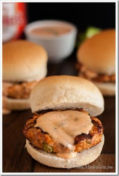 Buffalo Chicken Sliders - These bold and spicy burgers are loaded with all your favorite buffalo wing ingredients and topped off with a little spicy ranch!