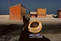 by Harry Gruyeart / Amusement stands near the beachfront, Essaouira, Morocco, 1988