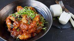 Spicy krabbe med koriander og chili