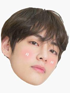 'Nettes V BTS' Sticker von carrychiam Bts Sticker, Meme Stickers, Printable Stickers, V Bts Cute, Bts Face, Aesthetic Phone Case, Aesthetic Stickers, Bts Lockscreen, Kawaii Cute