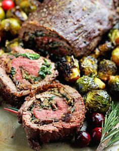 Mushroom and Spinach Stuffed Flank steak | Wolf Gourmet