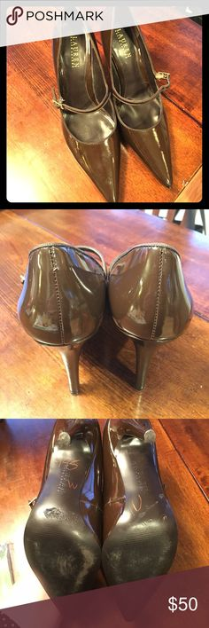 Lauren by Ralph Lauren Heels Barely worn pointed Ralph Lauren heels in a Mary Jane style. Lauren Ralph Lauren Shoes Heels