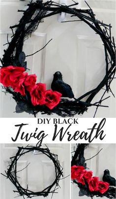 DIY Halloween Black Twig Wreath You are in the right place about diy face mask sewing pattern Here we offer you the most beautiful pictures about the diy surgical mask free pattern you are looking for. When you examine the DIY Halloween Black Twig Wreath Spooky Halloween, Porche Halloween, Halloween Noir, Halloween 2019, Holidays Halloween, Vintage Halloween, Halloween Crafts, Happy Halloween, Halloween Party