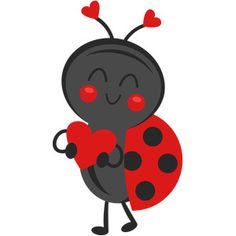 Valentine Ladybug: Miss Kate Cuttables-- SVG scrapbook cut file cute clipart files for silhouette cricut pazzles free svgs free svg cuts cute cut files Lady Bug, Bug Tattoo, Niklas, Ladybug Party, Dibujos Cute, Cute Clipart, Valentines For Boys, Cute Cuts, Love Bugs
