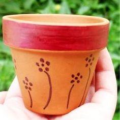 Color a Pot with Sharpie