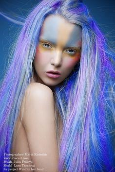 Wind in her head by Nava Monde, via Behance