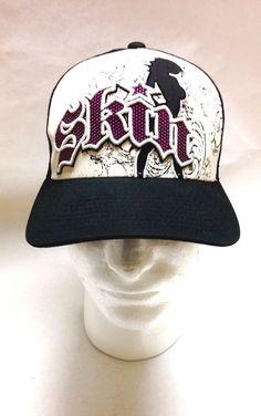SKIN Industries Pink Black White Hat Baseball Cap Adjustable OSFA   SkinIndustries  BaseballCap 2231ea583bde