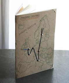 Great idea for travel journal cover