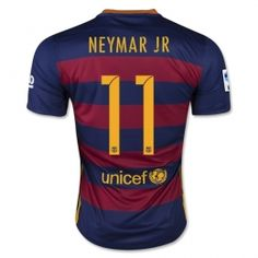 Football Shirt Barcelona Home 15-16 Cheap NEYMAR JR #11 Replica Jersey [B228]