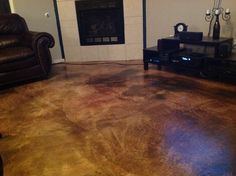 Loving my stained concrete floors!