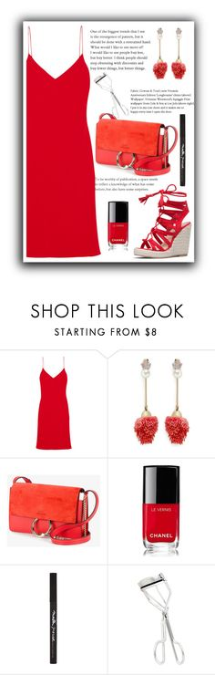 """""""red dress"""" by katerinaso19 ❤ liked on Polyvore featuring Calvin Klein Collection, Venna, Chloé, Chanel, Maybelline and NYX"""