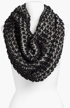 Two Tone Chunky Knit Circle Scarf Circle Loom, Circle Scarf, Knit Crochet, Crochet Hats, Confessions Of A Shopaholic, Chunky Knit Scarves, Loom Knitting, We Wear, Womens Scarves