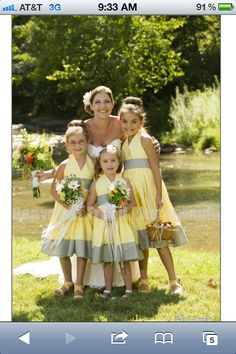 Hey, I found this really awesome Etsy listing at https://www.etsy.com/listing/109071103/yellow-and-grey-flower-girl-party