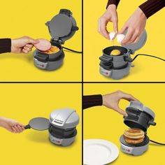 If you're a fan of a certain double-arched restaurant's breakfast sandwiches, you might want to invest in one of these. This breakfast sandwich maker makes it. Breakfast Sandwich Maker, Things To Buy, Good Things, Crazy Kitchen, Best Housewarming Gifts, Kitchen Items, Mondays, Own Home, Coffee Mugs