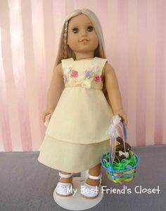 Israel's Easter Dress  18 Inch Doll by MyBestFriendsCloset8