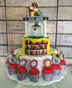 Melows Cake Personalizado a Bela e a Fera - Mais que um bolo, a realização de um sonho !!! E assim, coisas que valem a pena 😍😍😍 #melows #cake #fondantcake #fondant #pastaamericana #abelaeafera #cupcakes #bolo #bolodecorado #sugarcraft #encontrandoideias