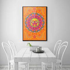 MI SOL orange  24 x 36 print by Artbydannyc on Etsy #sol #orange #etsy #print #art