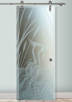 Don't choose an ordinary glass barn door; choose a work of art with San Soucie's art glass barn doors. Learn about our sliding glass barn doors for your home. Bathroom Window Glass, Window Glass Design, Frosted Glass Design, Ganesha Tattoo Lotus, Lotus Tattoo, Tattoo Ink, Sliding Glass Barn Doors, Etched Glass Door, Art Deco Borders
