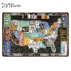 Retro Route Plate Number Personality Sign Iron Painting Plaques Decorative…