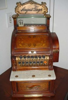 "Antique Cash Registers | Left: Hallwood ""Floral Machine"" / Right: NCR Model 317 w/Persimmons ..."