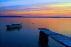 beautiful sunset in zadar, croatia