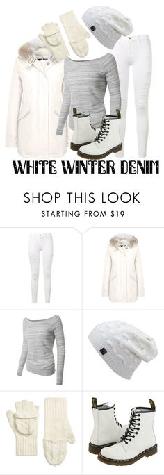 """""""Untitled #23"""" by milica-bircevic ❤ liked on Polyvore featuring Frame Denim, Woolrich, LE3NO, Brooks Brothers and Dr. Martens"""