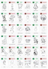 84 règles de vie illustrées pour la classe de maternelle. Les règles sont présentées sous la forme « Je peux - Je dois » ou « Je ne peux pas - Je ne dois pas » à l'aide de 44 affiches.