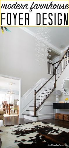 DIY Foyer with Glass Chandelier. AKA Bubble, Bubble, Toil