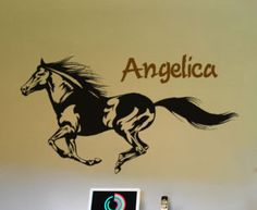 This personalized running horse would be great for any horse person. This personalized horse measures 20 X 36 inches with the name included. You