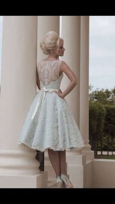 Little blue wedding dress from House of Mooshki