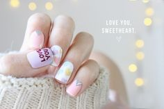 10 Beautiful Valentine's Day Nail Designs fashion nails nail nail art manicure valentines day valentines day nails valentines day nail art valentines day manicure ideas valentines day manicures
