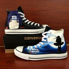 e853eba6320c76 Naruto Itachi Uchiha Converse Shoes Hand Painted Canvas Sneaker