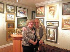 Margret Short with David Leffel, Juror of the Exhibit, http://margretshort.com/salon-international-2014-award/