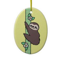 Three Toed Sloth Ornaments