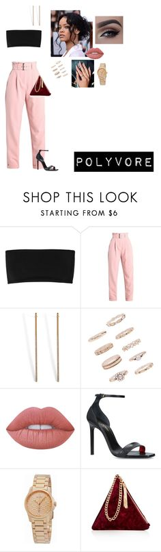 """""""Sem título #182"""" by someoneyouknow000 on Polyvore featuring moda, Balmain, Lost Ink, Vita Fede, Forever 21, Lime Crime, Yves Saint Laurent, Gucci e Street Level"""